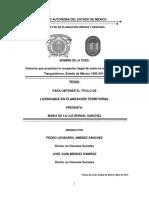 Factores que propician la ocupación ilegal de suelo en el Mu