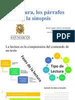 La lectura, los párrafos y la sinopsis.pptx