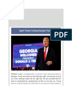 Dr Juan Andrade, Jr. - Split Ticket Voting Dumps Trump