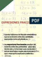 expresiones fraccionarias