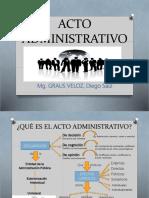 ACTO ADMINISTRATIVO, PRINCIPIOS Y RECURSOS IMPUGNATIVOS