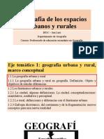 U1-2 Geografía urbana geografía rural
