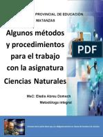mètodos Ciencias Naturales