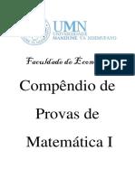 Compêndio de provas de Matemática I