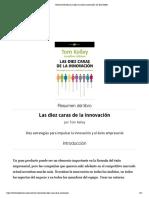 Resumen del libro 'Las diez caras de la innovación', de Tom Kelley