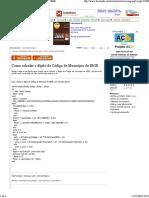 Como calcular o dígito do Código de Município do IBGE