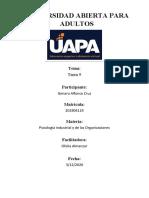 PSICOLOGIA INDUSTRIAL Y DE LAS ORGANIZACIONES TAREA 9 GENARO.docx