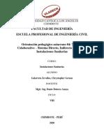 Orientación pedagógico asíncrono Trabajo Colaborativo - Sistema directo, indirecto y mixto de instalaciones sanitarias