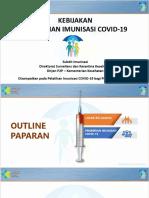 1. Kebijakan Pemberian Imunisasi COVID-19
