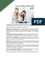 Adolescencia y conflictos interpersonales
