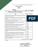 Surgical Hand Prep Evaluation Sheet - Bana