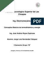 CONCEPTOS BASICOS DE TERMODINAMICA Y ENERGIA