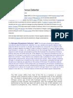 Nitrogen Phosphorus Detector Theory