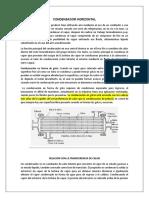 INTRODUCCION DE CONDENSADOR HORIZONTAL