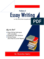 Essays by Shamsher Seelro