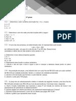 Lista Função Do 1º e 2º Graus