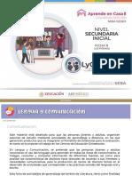 CEDEX Aprende en Casa 8 Lengua y Comunicación
