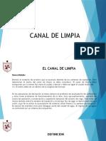 CLASE 9 CANAL DE LIMPIA