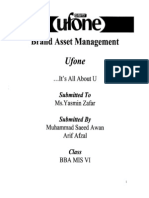 UFONE  BRAND MANAGEMENT By Asad Memon