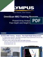 MX2 Training program 14D Phased Array Analysis-Depth Height Sizing