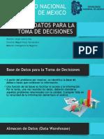 BASE DE DATOS PARA LA TOMA DE DECISIONES