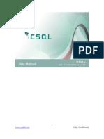 CSQL-UserManual