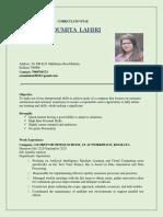 Resume-Soumita Lahiri