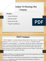 SWOT Analysis  For Running a Bus Company