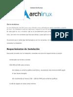 Como Instalr ArchLinux