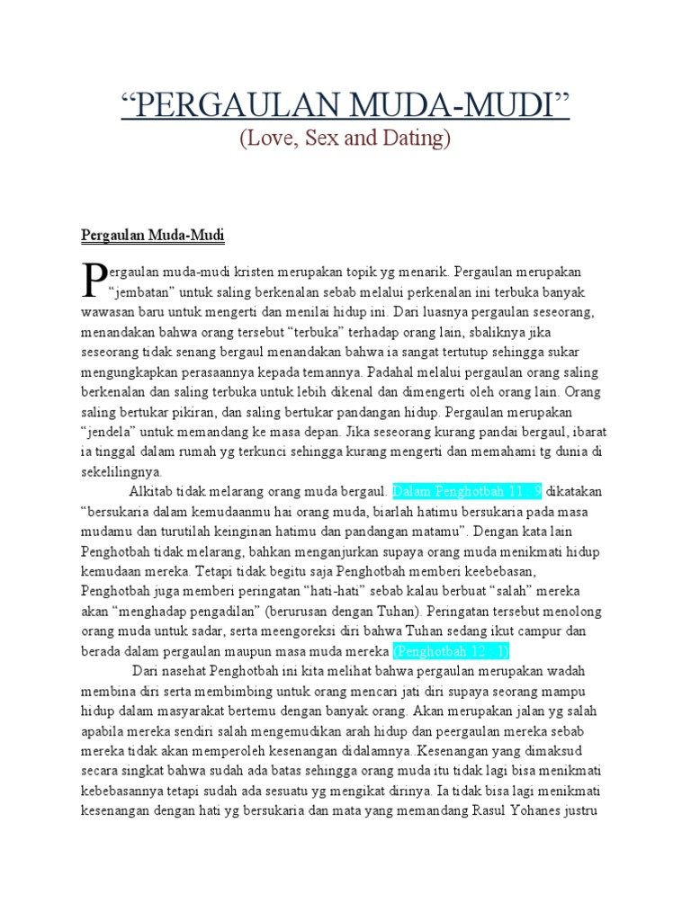 Khotbah remaja sex love dating
