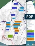 Carte des aménagements envisagés sur le ruisseau de Glaire