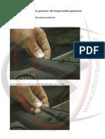 Alfa 147 - Sostituzione gommini del tergicristallo posteriore