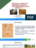 protocolo bioseguridad en apiarios COVID19