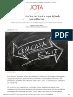 2 Covid-19, crise institucional e repartição de competências - JOTA Info.pdf