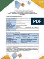 Guia de actividades y rubrica de evaluacion - Fase 4 - Diagnostico participativo contextualizado e Informe Psicologico