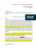 IMPORTANCIA DA DIDACTICA NA FORMAÇAO DO PROFESSOR