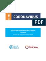 Protocolo y reglamento provincial Covid-19 - Versión 2020-09-05