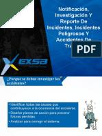 2. Notificación, Investigación y reporte de Incidentes, Incidentes peligrosos y accidentes de trabajo