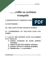 Chapitre 1 Les treillis ou systèmes triangulés