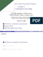 Ellis, Mandel - 2009 - Lecture 7 Audio compression and coding
