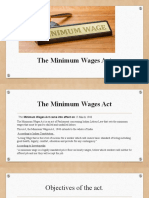 THE MINIMUM WAGES ACT '1948