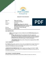 Fort St. John - RCMP Building Construction Letters of Intent