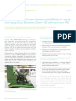 ASMAG UK Ltd. wins new business and delivers in record time using CreoTM Elements/DirectTM 3D software from PTC