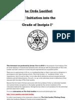 Ordo Luciferi - Incipio - Self Initiation Rite