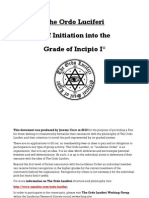 Ordo Luciferi - Incipio - Self Initiation Rite