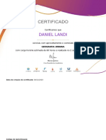 Certificado Daniel Landi - Geografia Urbana