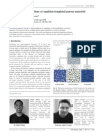 Synthesis and applications of emulsion-templated porous materials