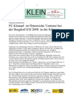BDEM-FC-Kleinarl Pressaussendung