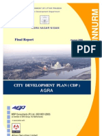 AGRA city development plan JNNURM