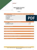 Relazione Annuale Attività_Anno 2010